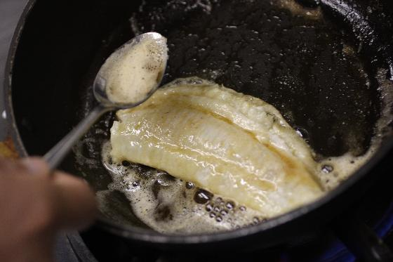 バターをかける