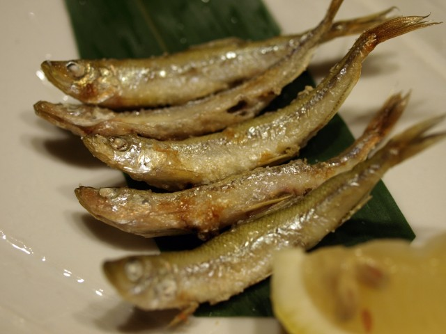 公魚の塩焼き