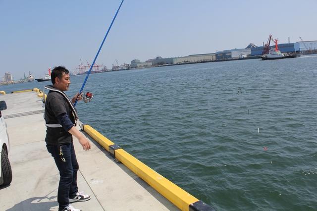 サビキ釣り風景