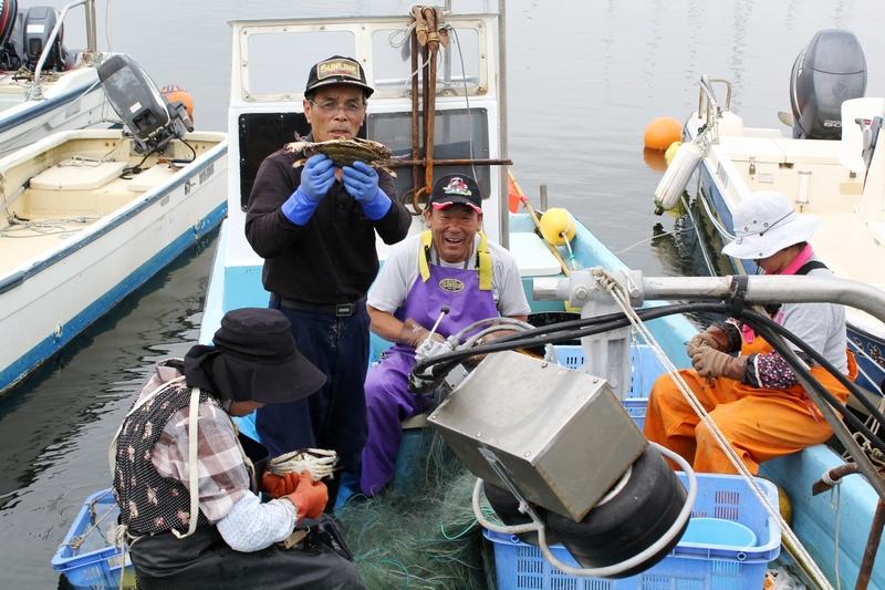 七ヶ浜の漁師さんとガザミ